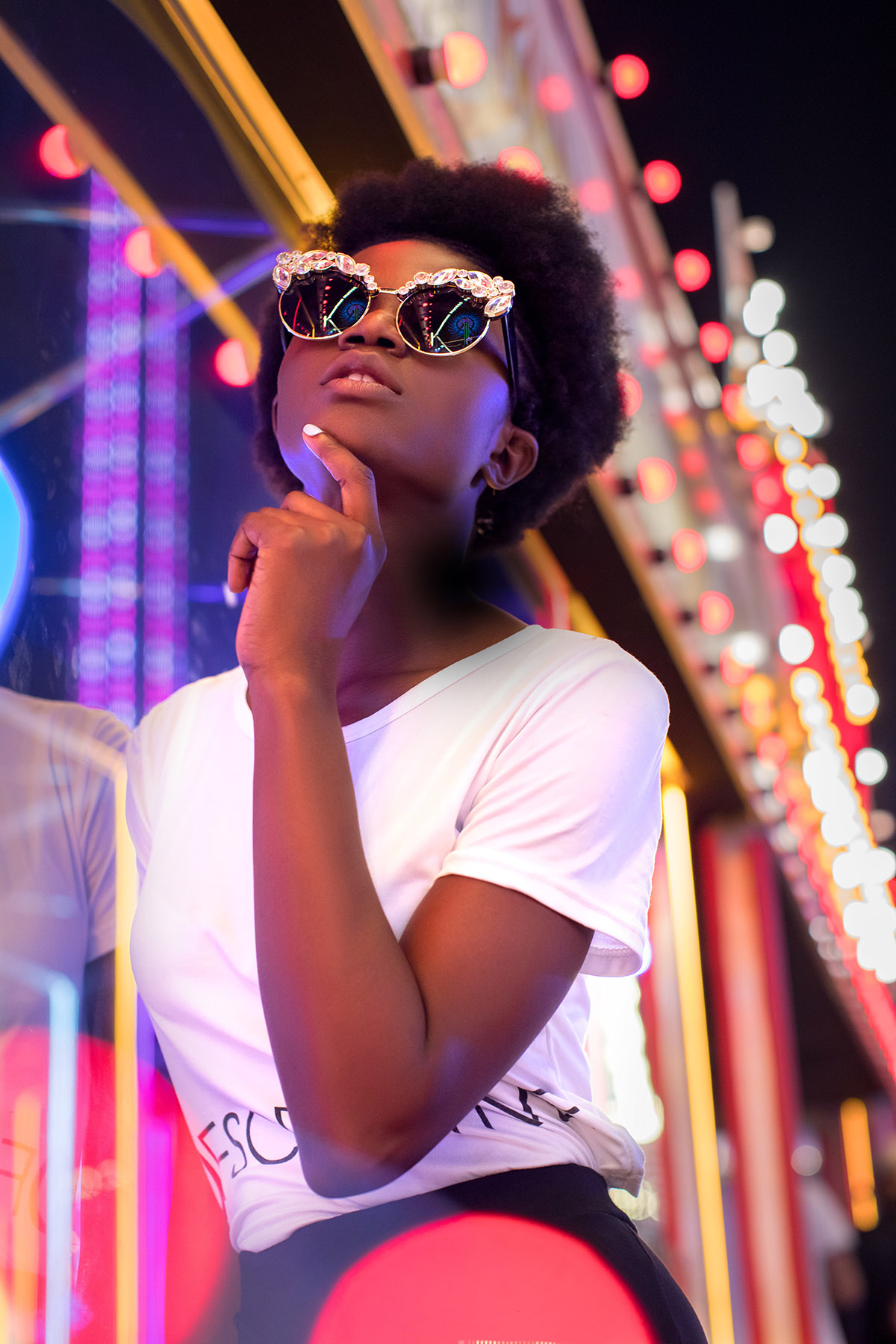 Neon fashion photoshoot by Loesje Kessels Fashion Photographer Dubai