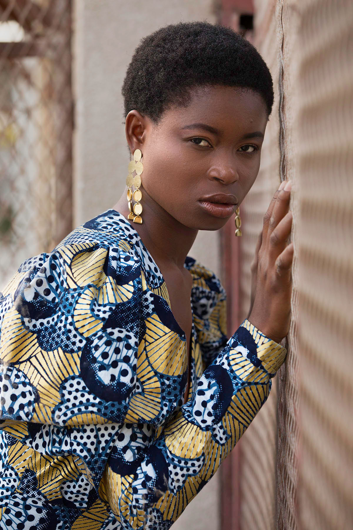 Editorial fashion shoot with Blessing Williams by Loesje Kessels Fashion Photographer Dubai