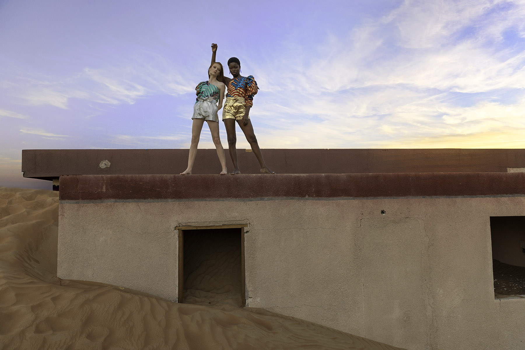 Editorial fashion shoot in Ghost Town by Loesje Kessels Fashion Photographer Dubai
