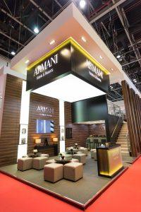 Armani event stand by Loesje Kessels Fashion Photographer Dubai
