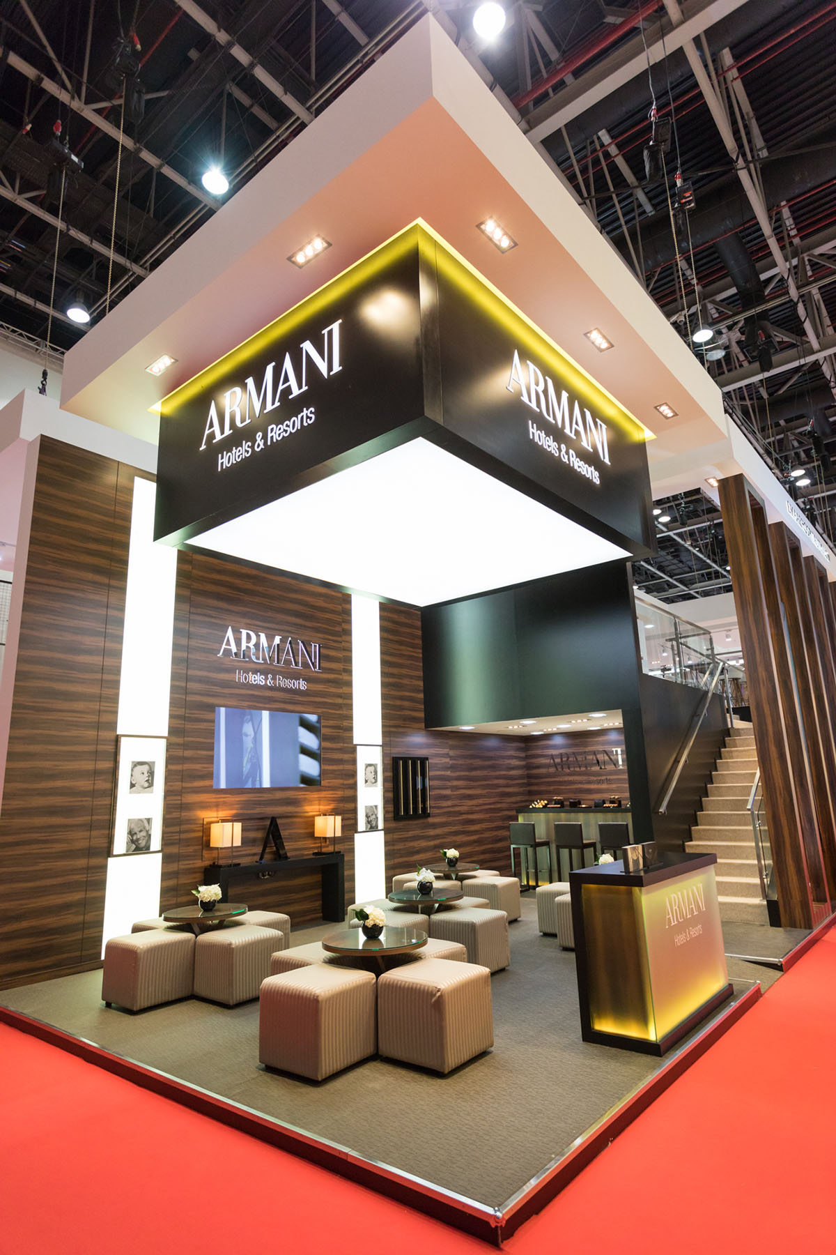 Armani event stand by Loesje Kessels Fashion Photographer Dubai