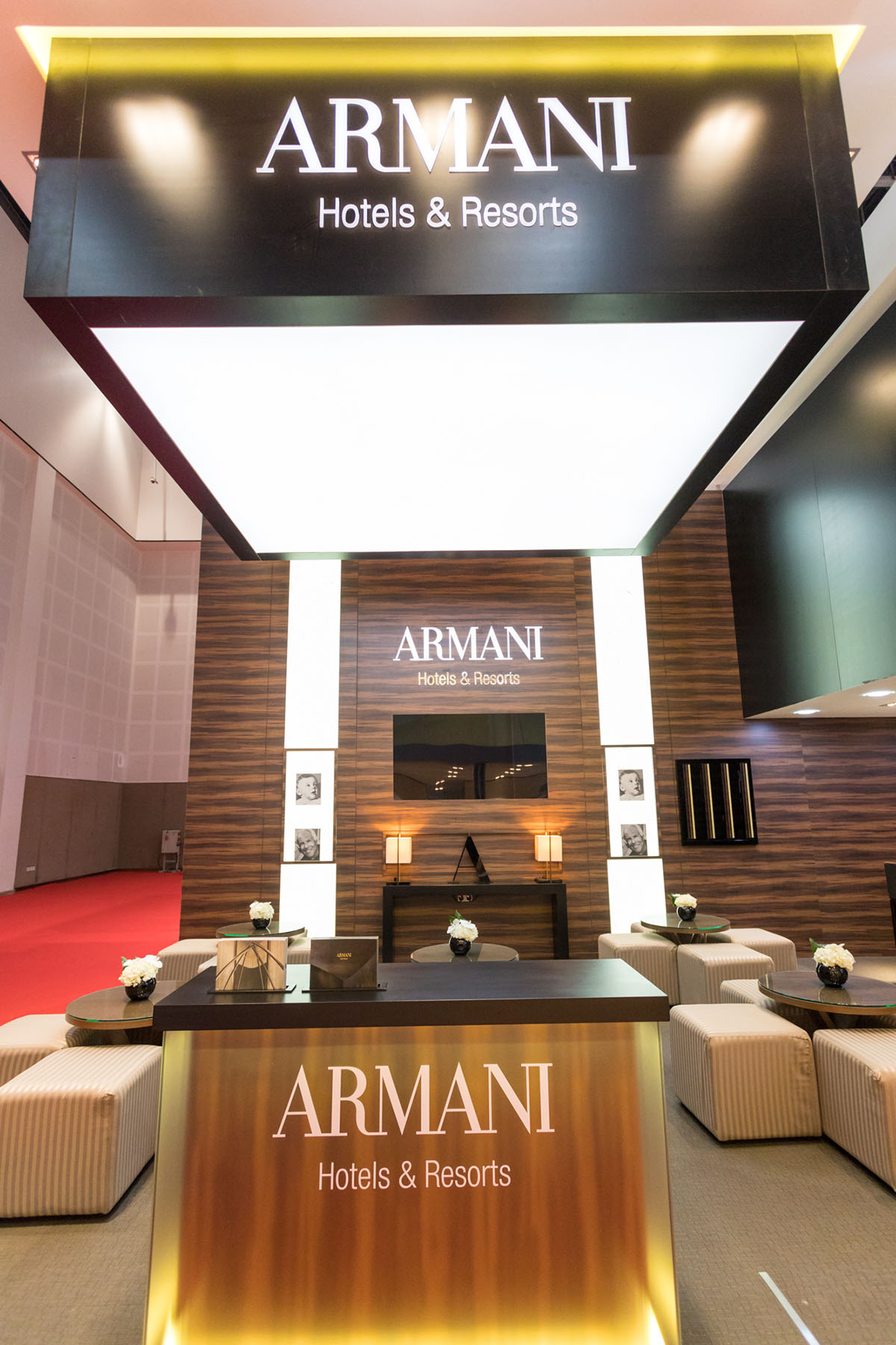Armani Hotels & Resorts stand by Loesje Kessels Fashion Photographer Dubai