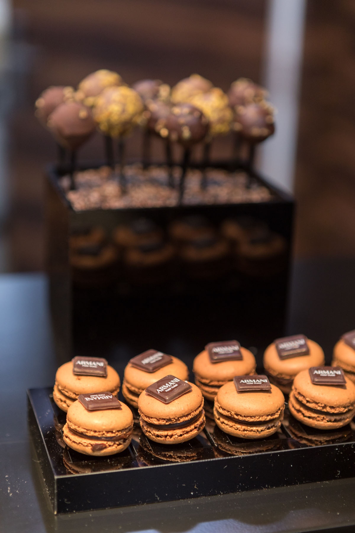 Armani decorated canapés by Loesje Kessels Fashion Photographer Dubai