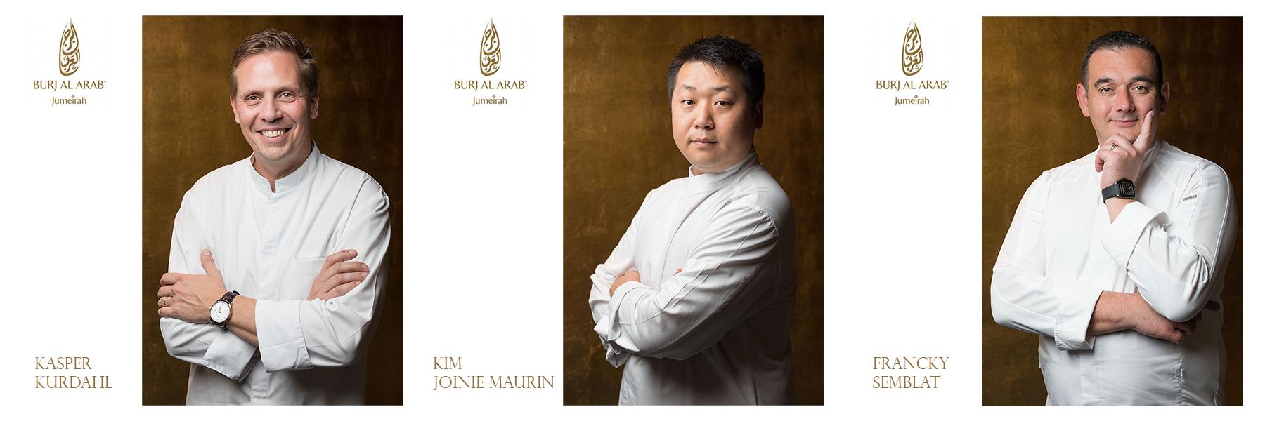 Commercial portraits of Jumeirah Burj Al Arab's celebrity chefs by Loesje Kessels Fashion Photographer Dubai