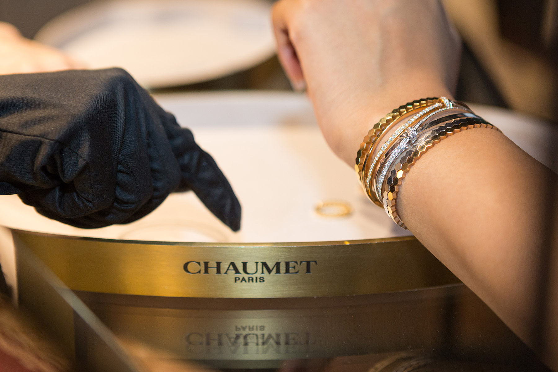 Stacked bracelets from Chaumet by Loesje Kessels Event Photographer Dubai