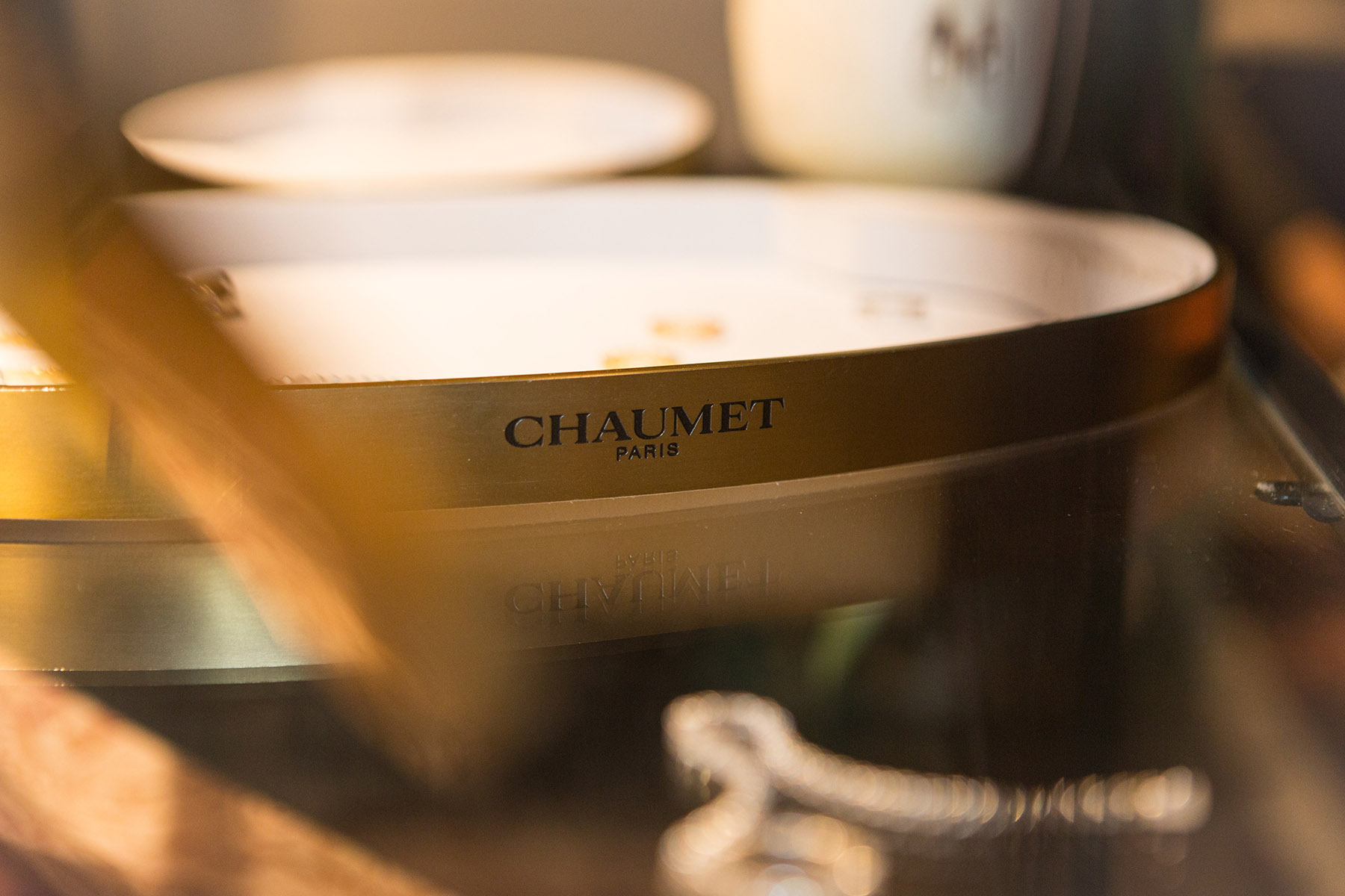 Jewelry display tray from Chaumet by Loesje Kessels Event Photographer Dubai