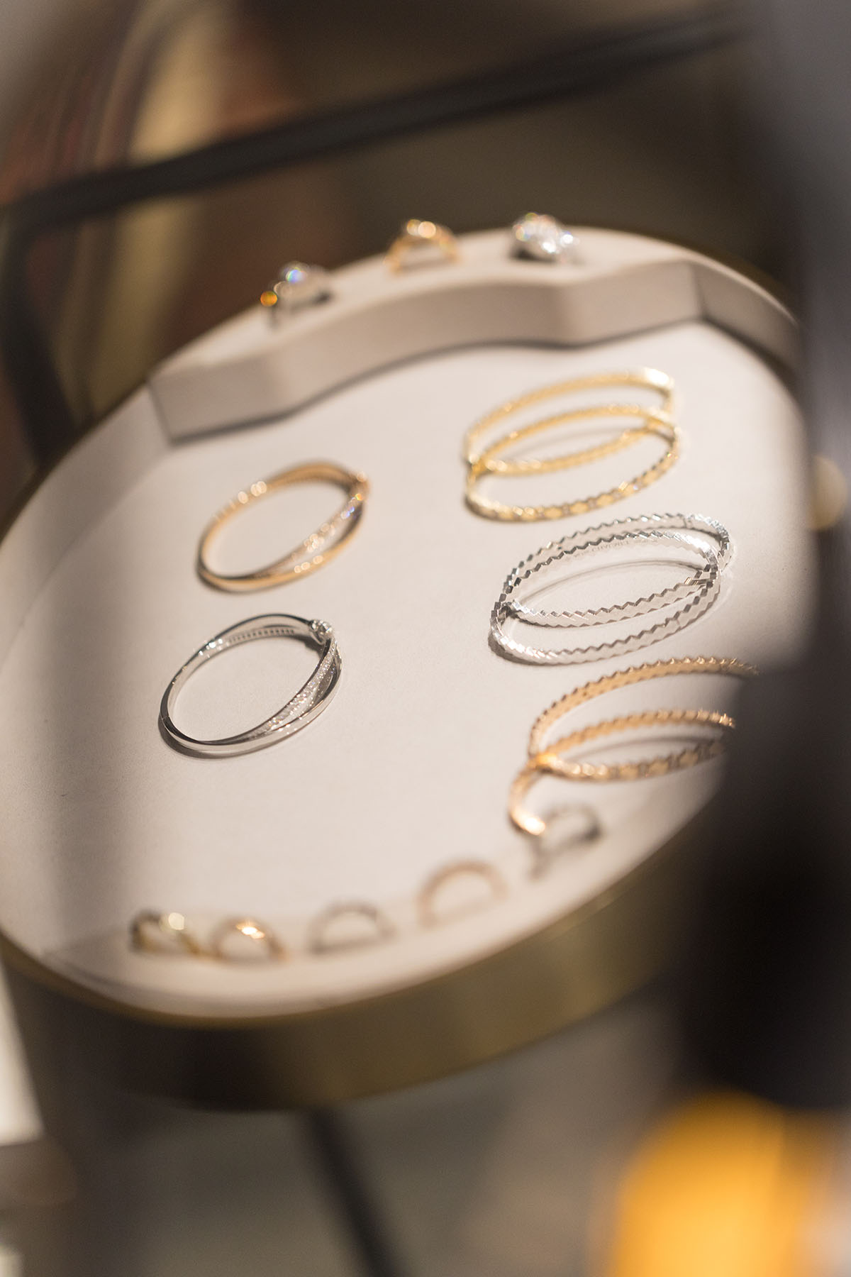 Stacked bracelet display from Chaumet Paris by Loesje Kessels Event Photographer Dubai