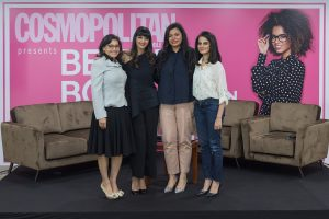 Cosmopolitan's editor in chief Kavita Srinivasan with guest speakers at the event by Loesje Kessels Fashion Photographer Dubai