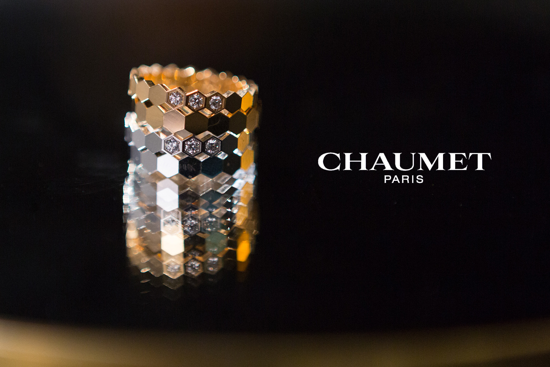 Commercial photography of Chaumet stack rings by Loesje Kessels Fashion Photographer Dubai