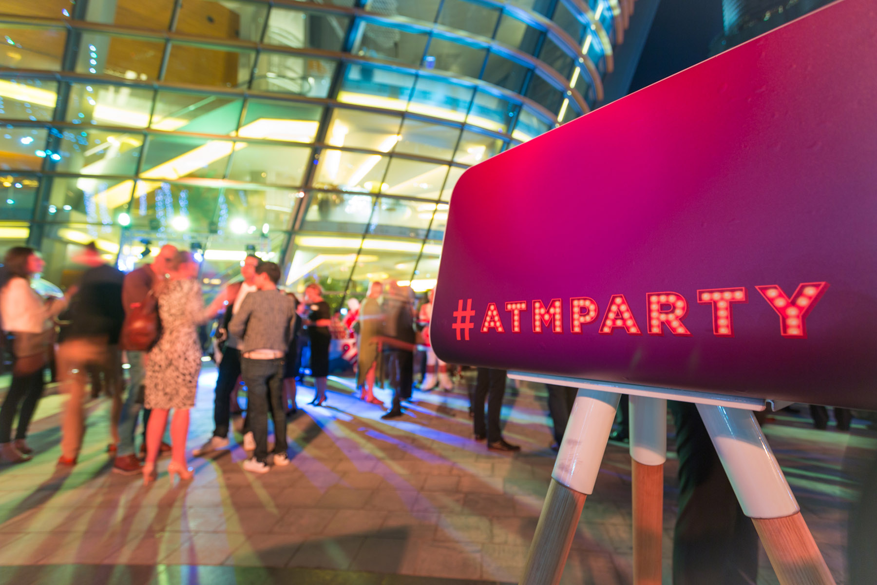 Event photography at the ATM party at the Dubai Opera House by Loesje Kessels Fashion Photographer