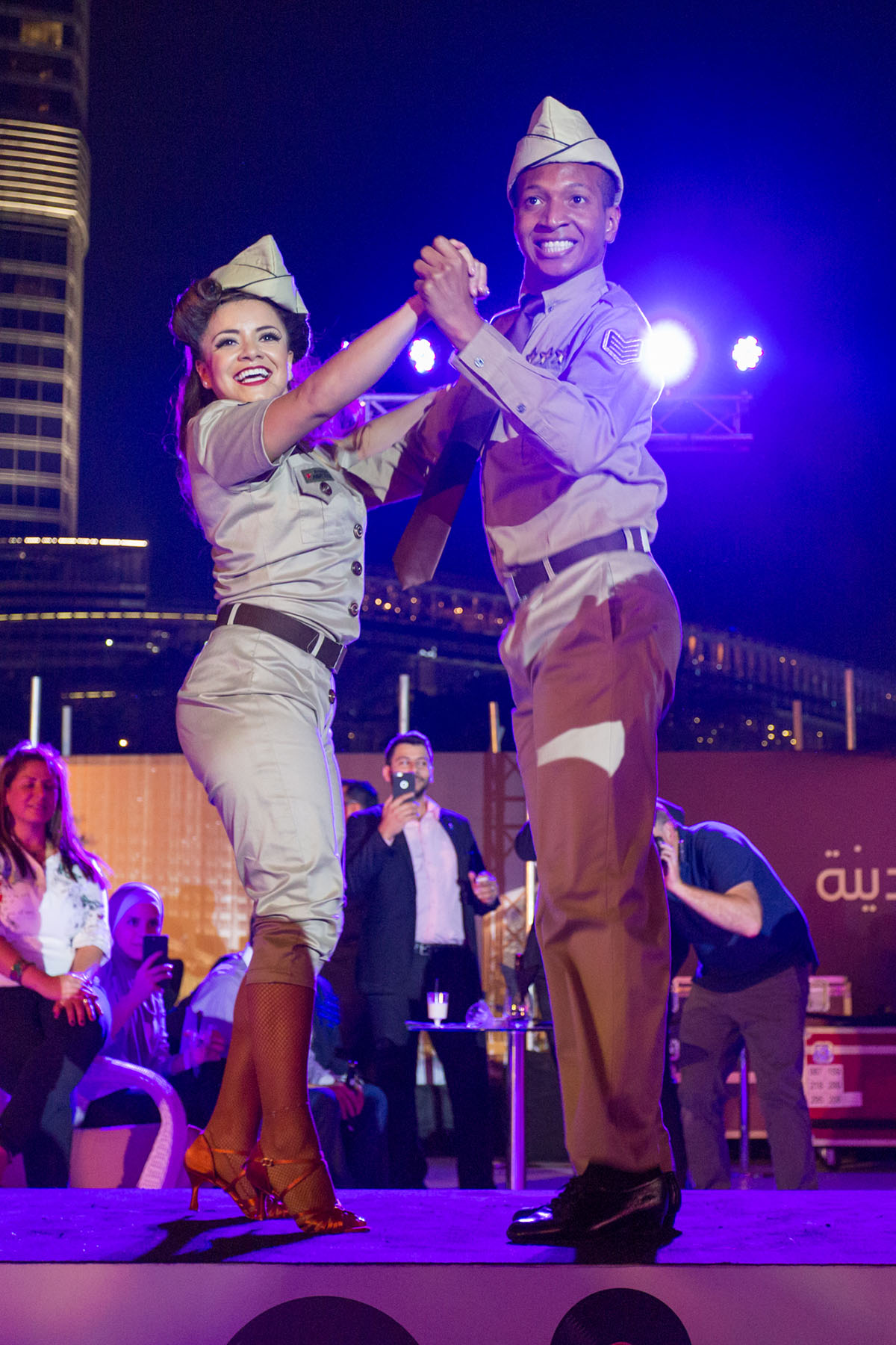 Dancers at the Dubai Opera House event by Loesje Kessels Fashion Photographer