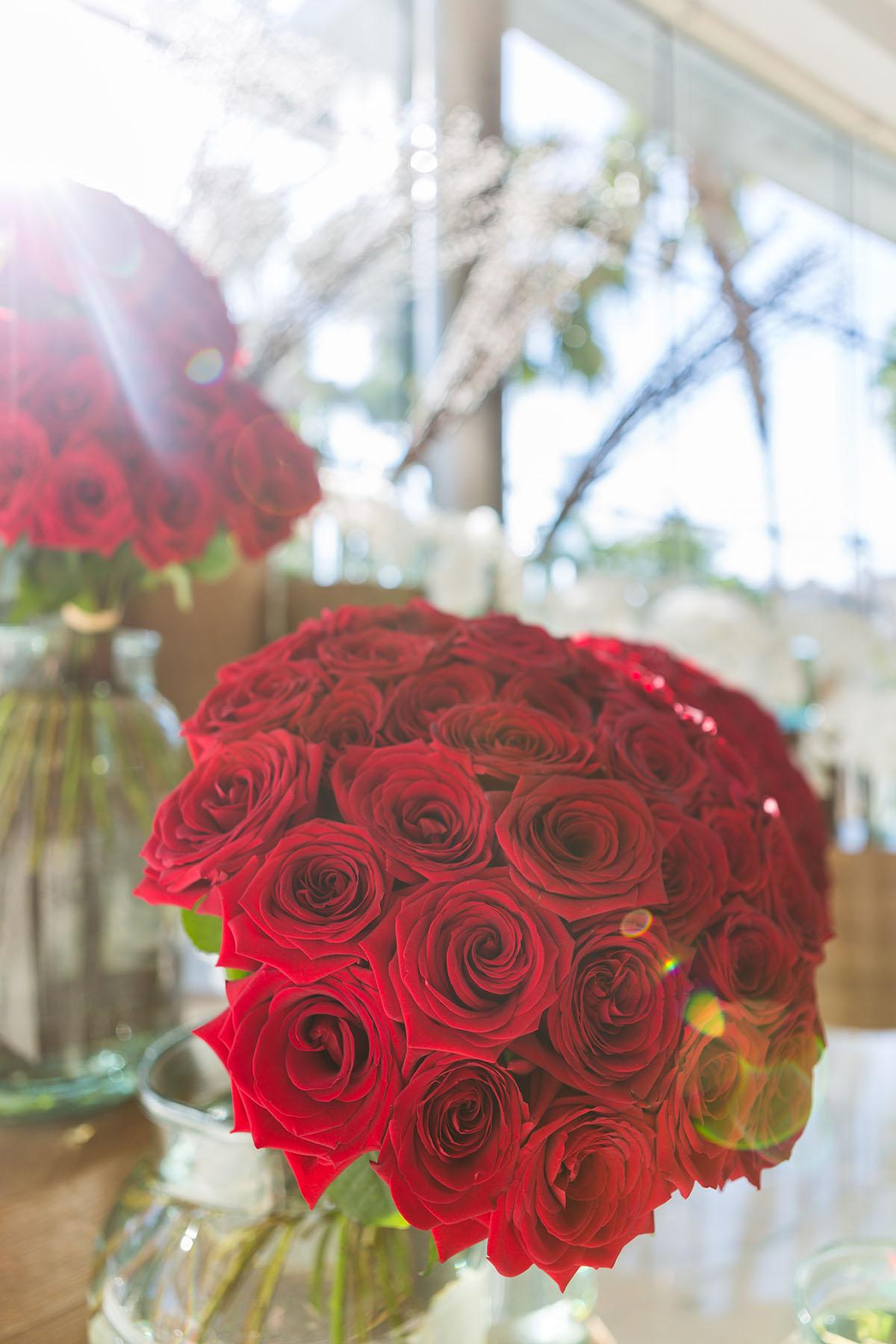 Flowers at Emaar's Address Downtown by Loesje Kessels Fashion Photographer Dubai
