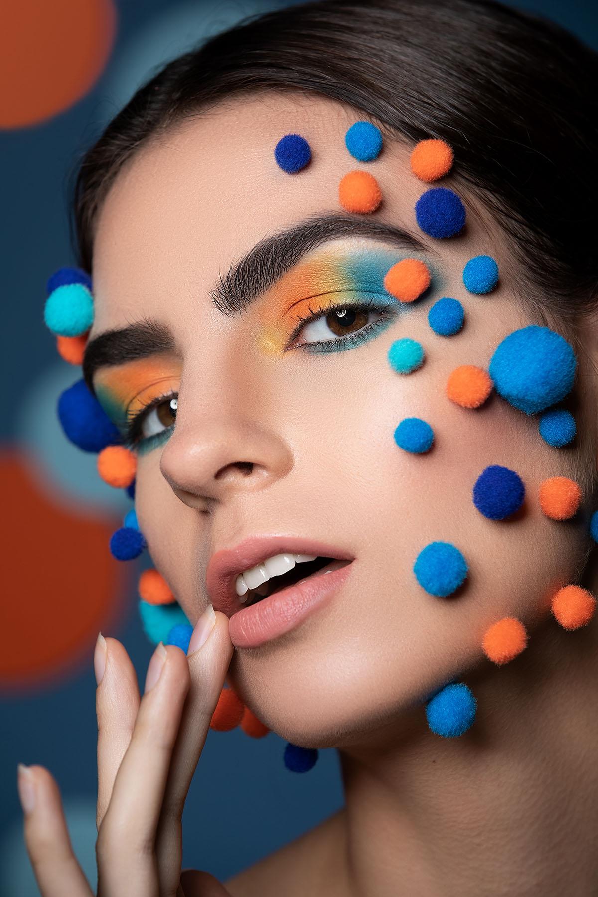 Avantgarde beauty portrait of model Alina by Loesje Kessels Fashion Photographer Dubai