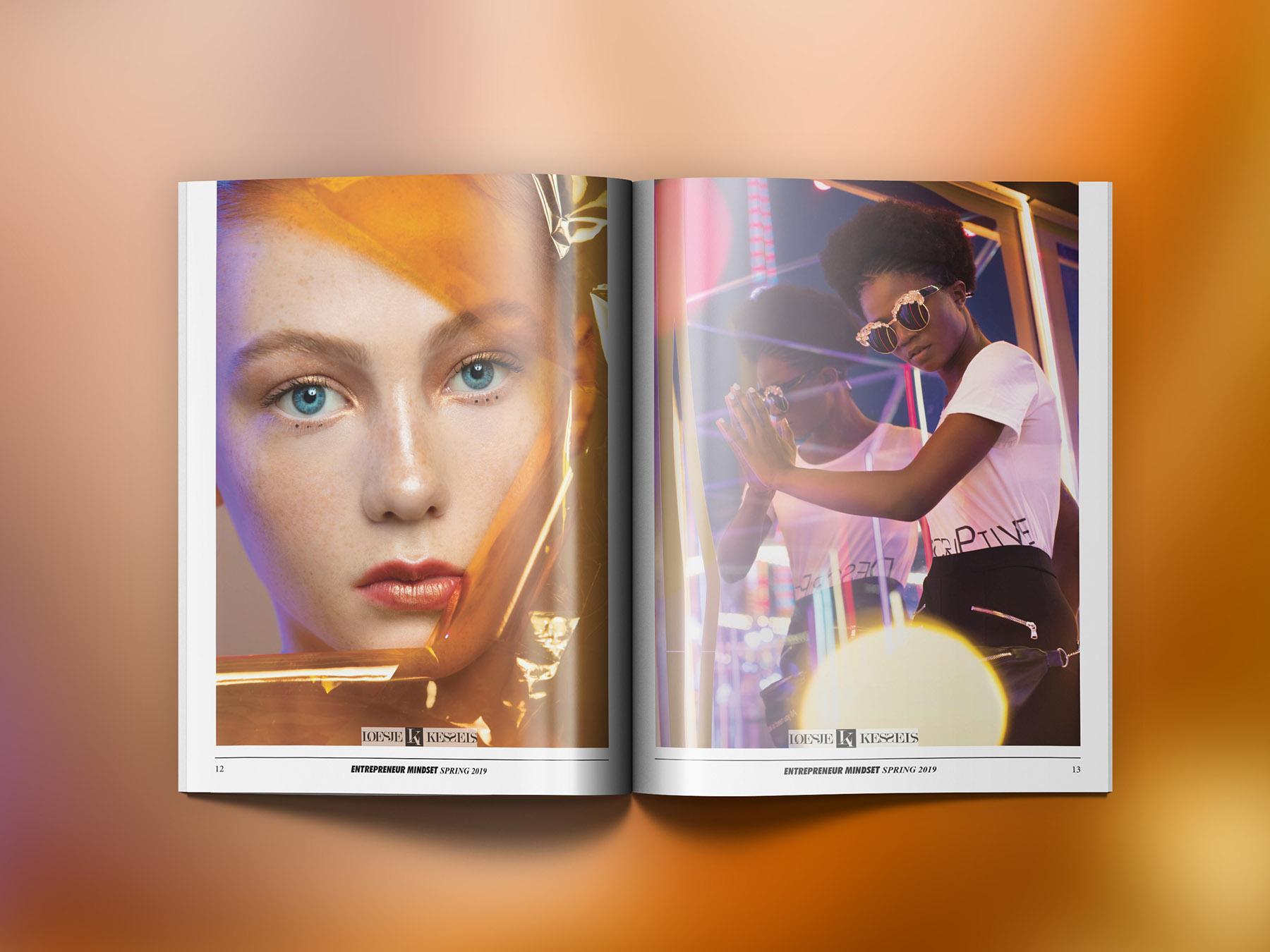 Publication of beauty portraits by Loesje Kessels Fashion Photographer Dubai