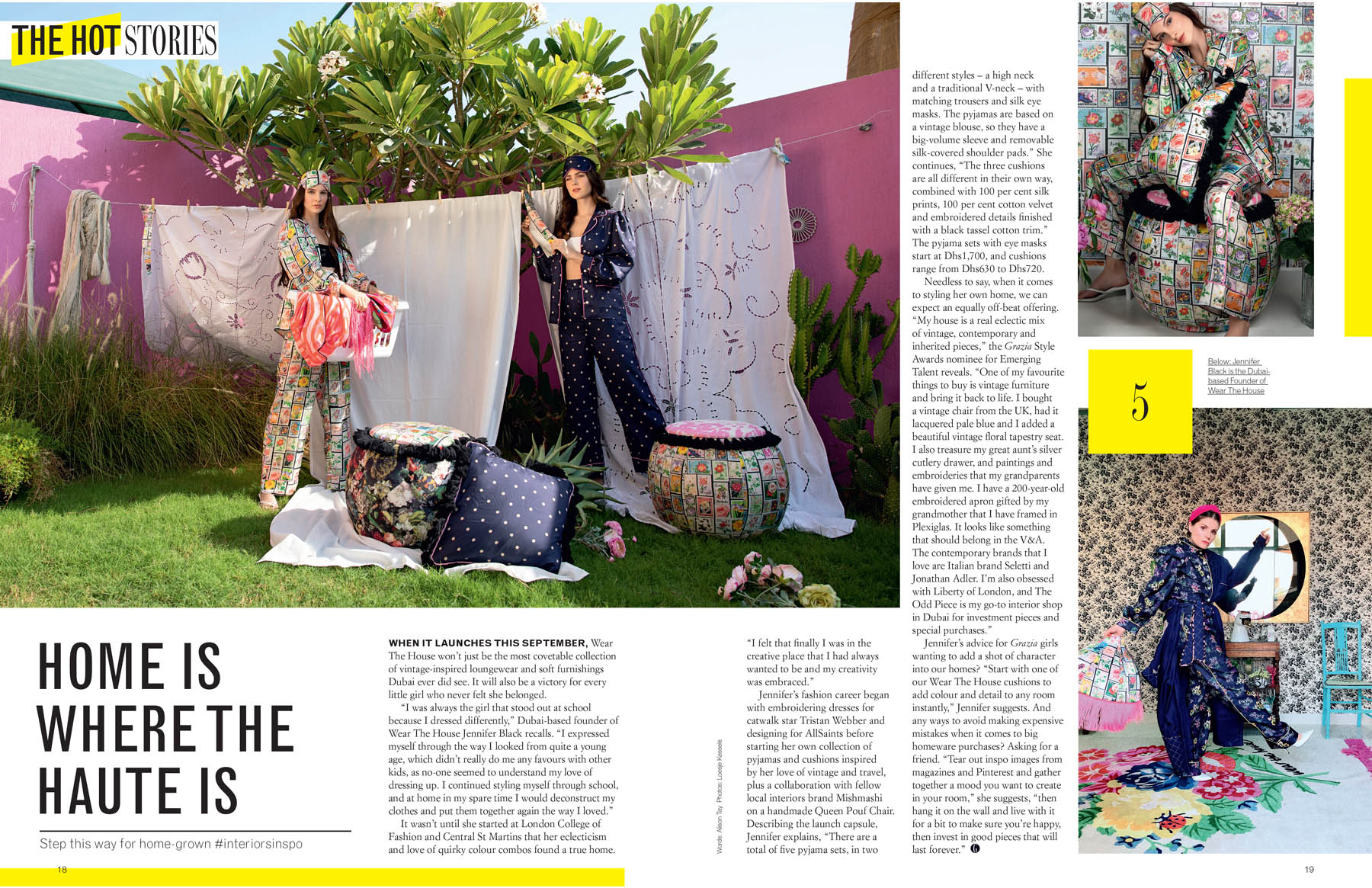 Wear The House photoshoot published in Grazia Middle East by Loesje Kessels Fashion Photographer Dubai