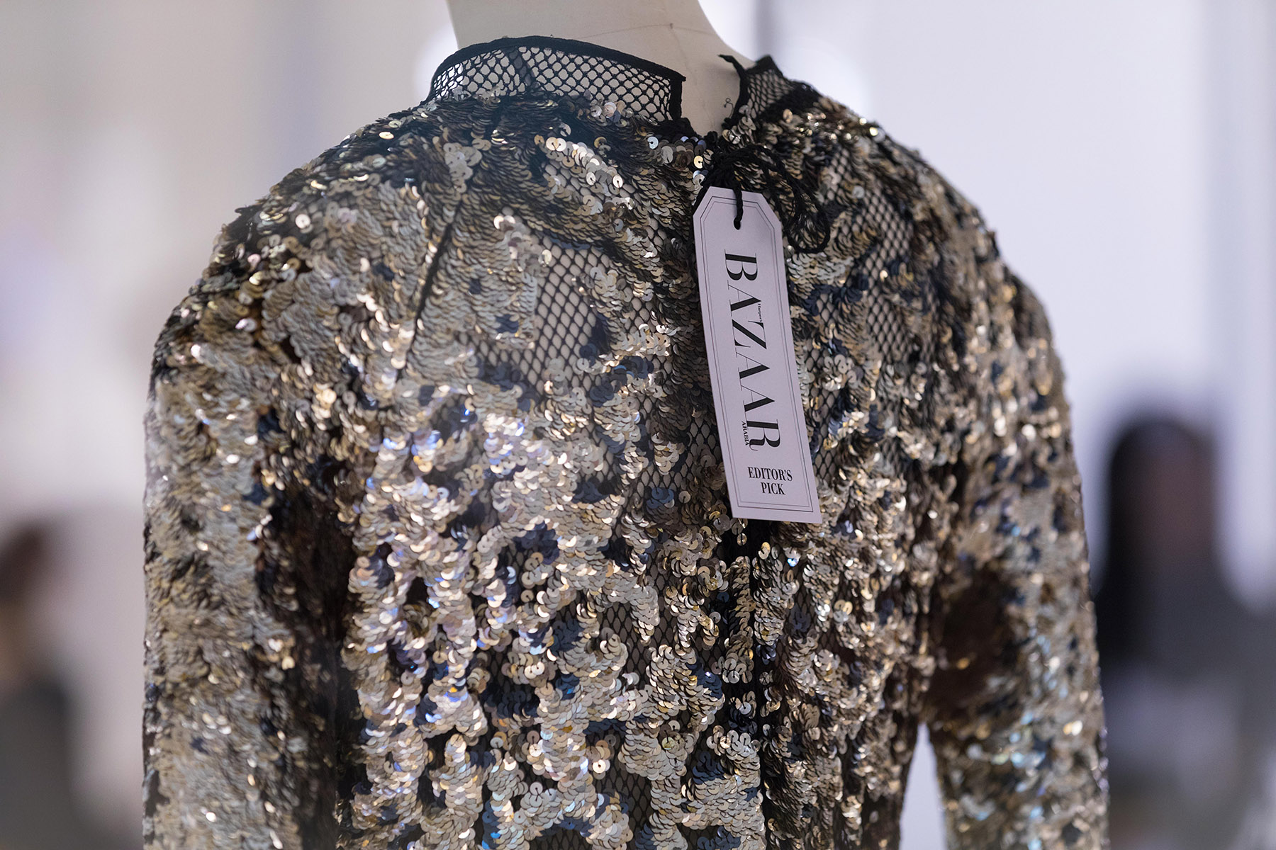 Editors pick sequin dress at Harpers Bazaar House of Fashion by Loesje Kessels Event Photographer Dubai