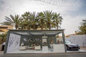 Maserati stand at Art Dubai by Loesje Kessels Fashion Photographer