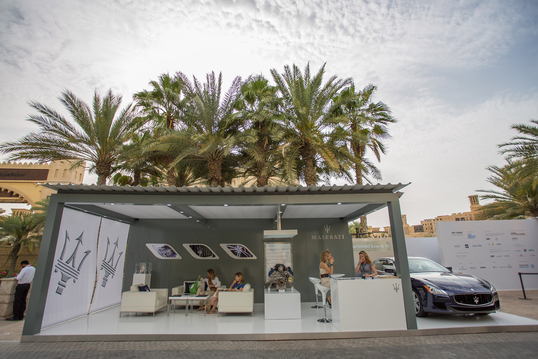 Maserati stand at Art Dubai by Loesje Kessels Fashion Photographer