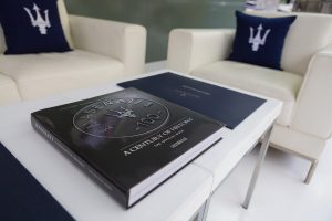 Maserati's stand at the Art Dubai event by Loesje Kessels Fashion Photographer