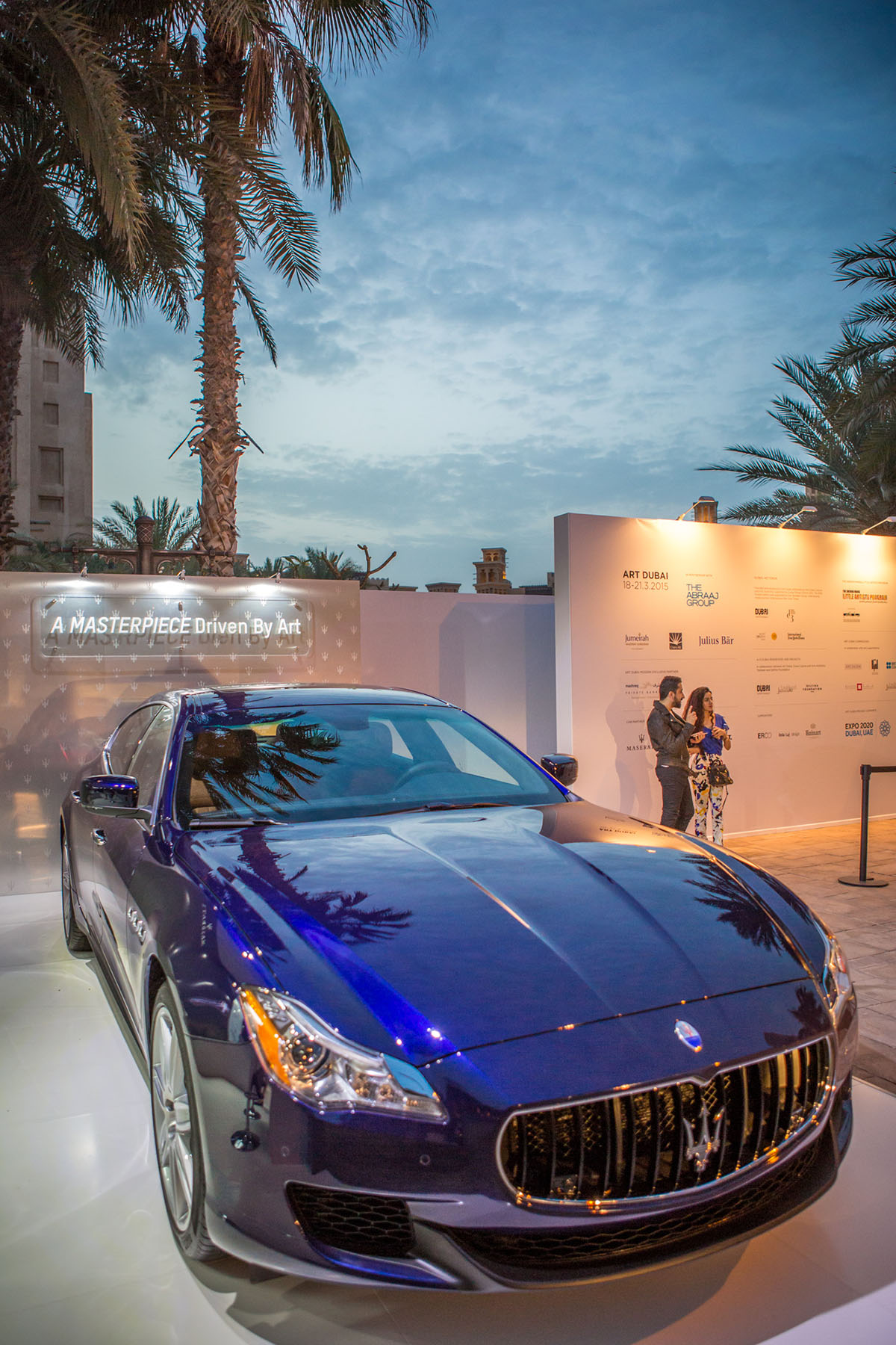 Maserati on display at Art Dubai by Loesje Kessels Fashion Photographer