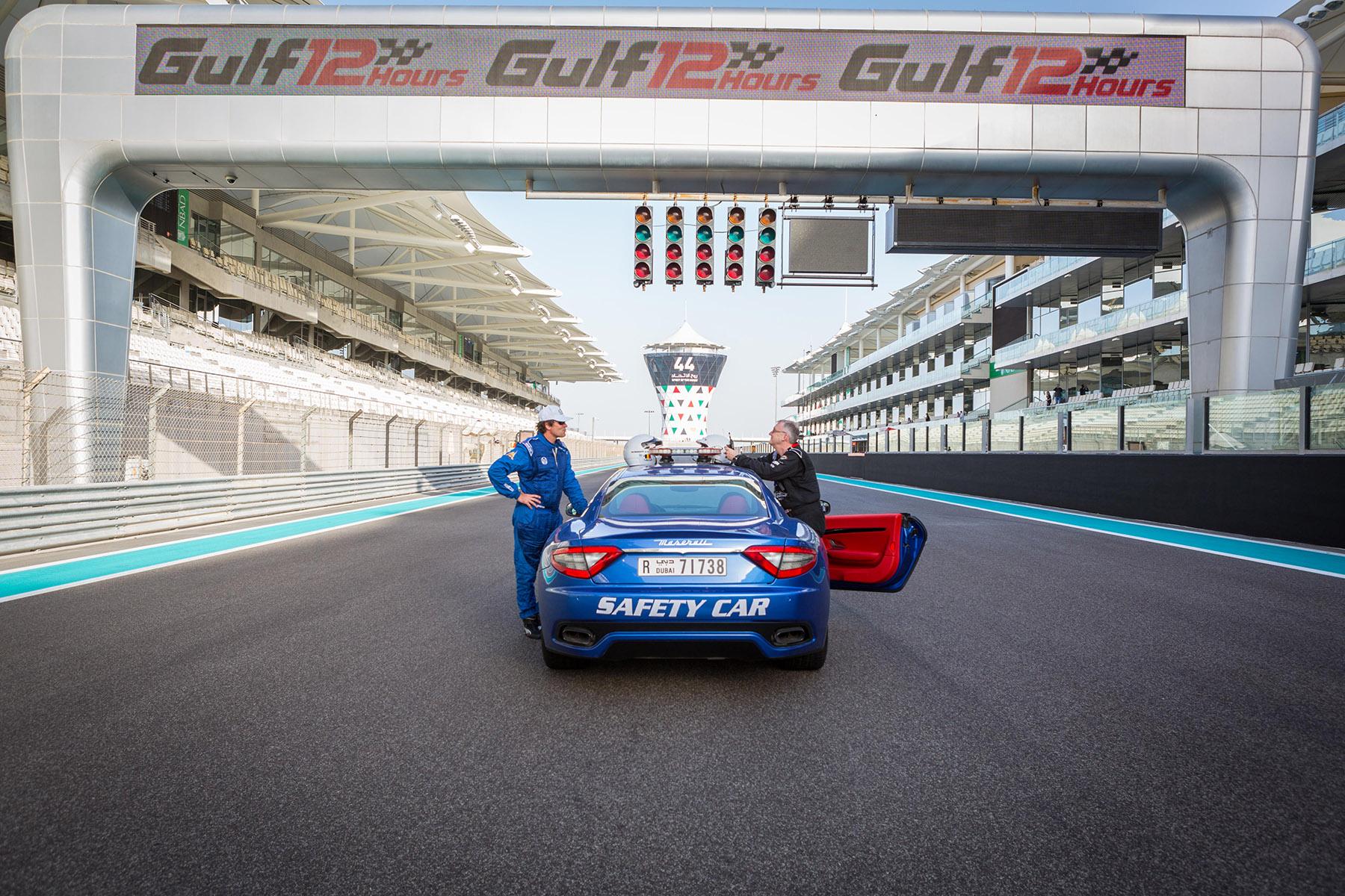 Safety car at Yas Marina Circuit at the Maserati Trofeo event by Loesje Kessels Fashion Photographer Dubai