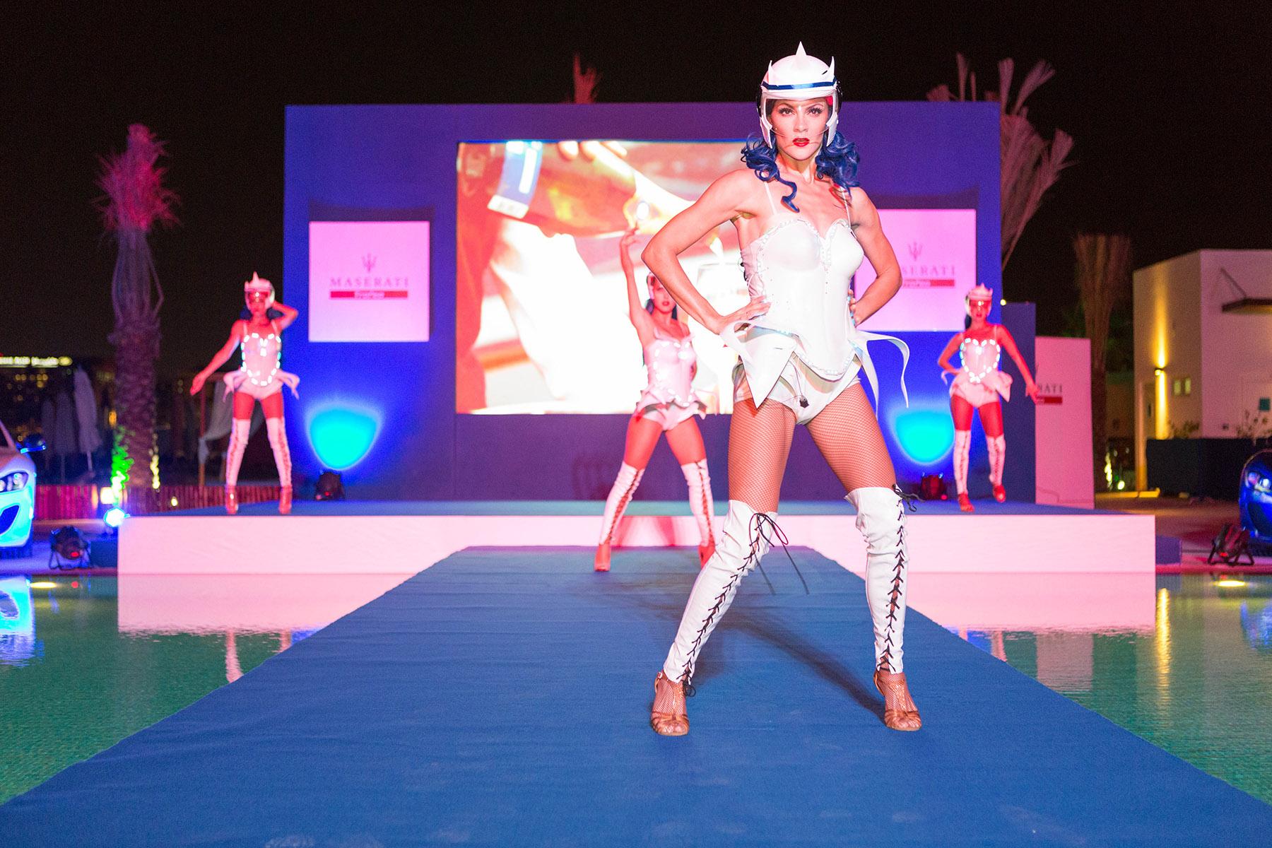 Dancers at the Maserati Trofeo event by Loesje Kessels Fashion Photographer Dubai