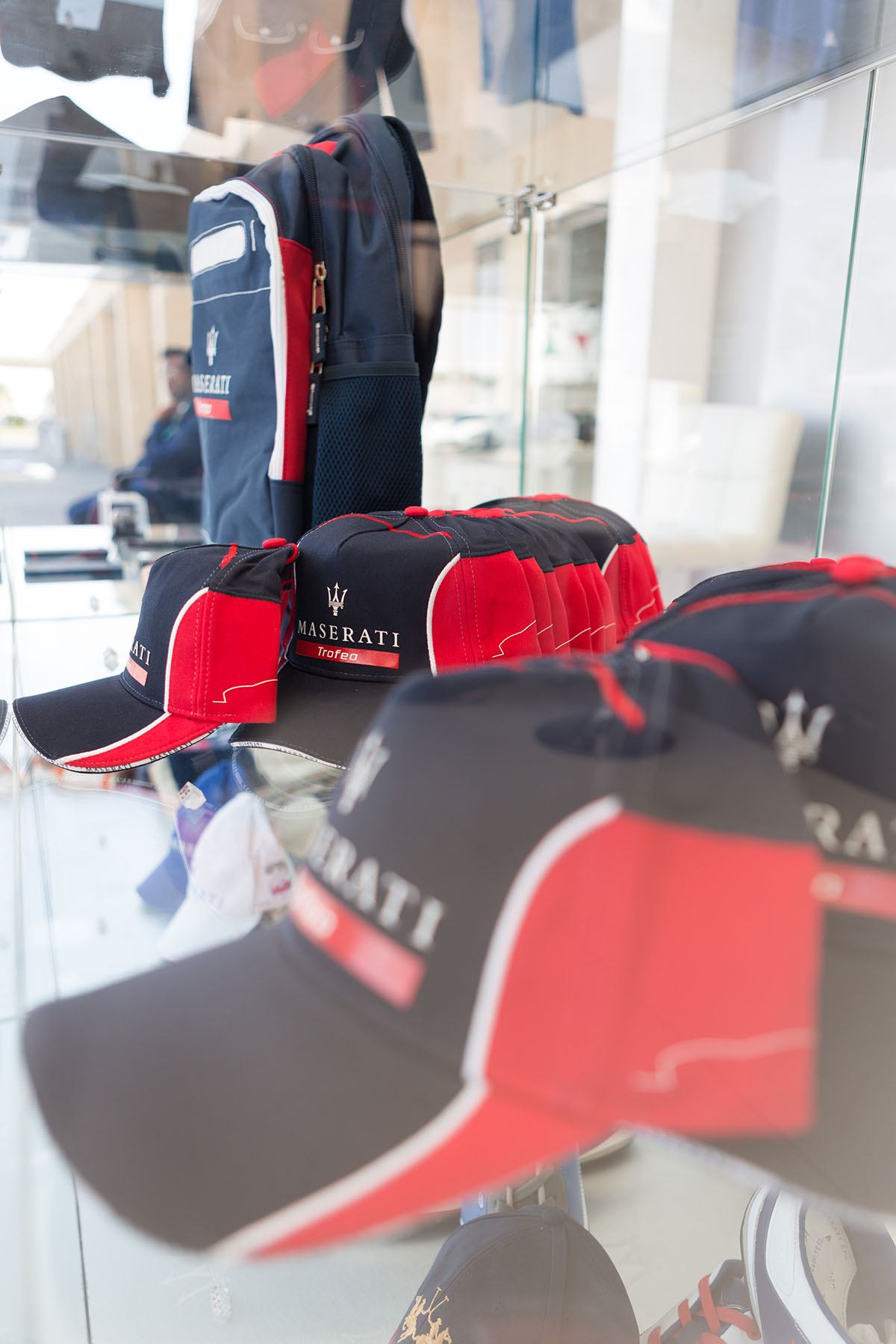 Merchandise at the Maserati Trofeo event by Loesje Kessels Fashion Photographer Dubai