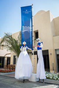 Entertainers at the Maserati Trofeo event by Loesje Kessels Fashion Photographer Dubai