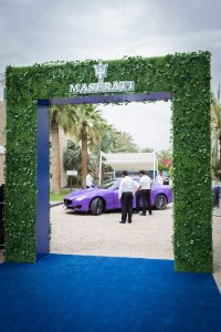 Entrance of the Maserati Polo event by Loesje Kessels Fashion Photographer Dubai