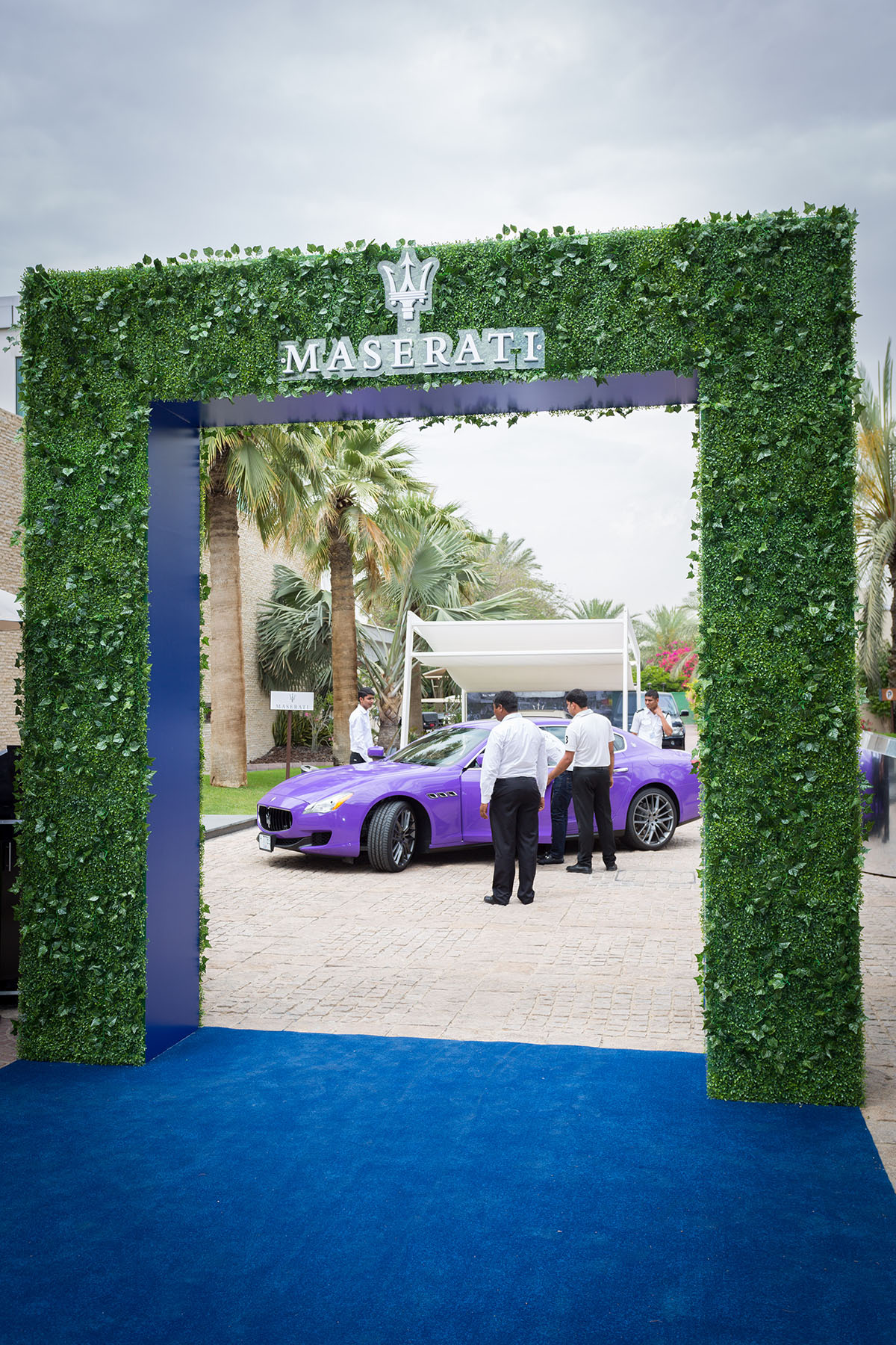 Entrance of the Maserati Polo event by Loesje Kessels Fashion Photographer Dubai
