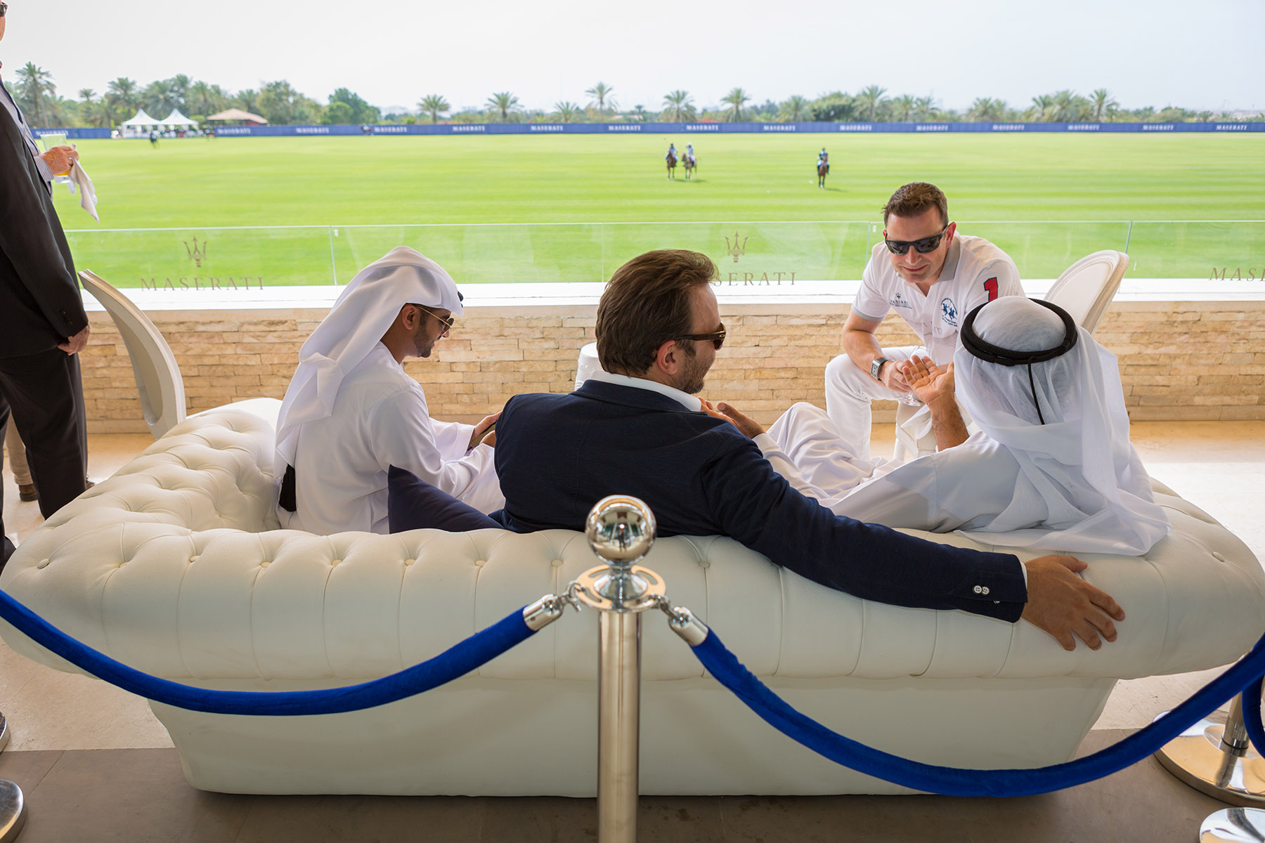 Maserati's CEO enjoying the polo match event by Loesje Kessels Fashion Photographer Dubai