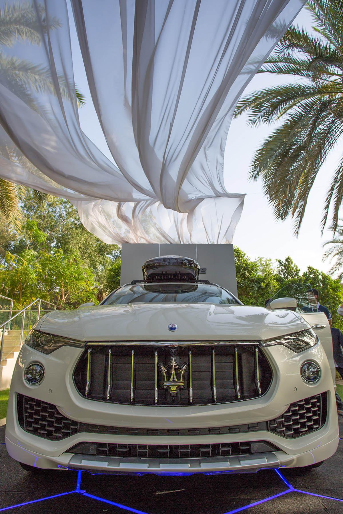 Maserati Levante at the polo event by Loesje Kessels Fashion Photographer Dubai