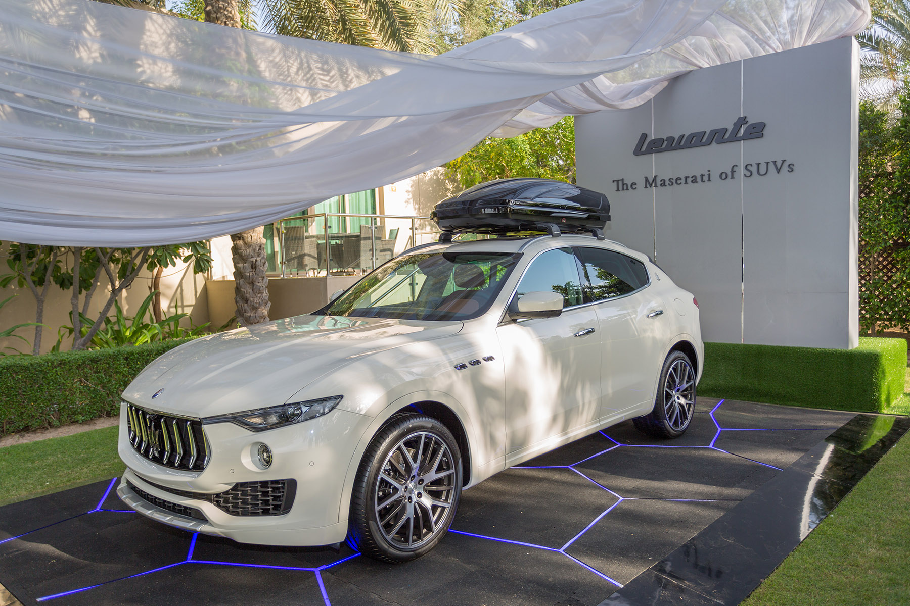 Maserati Levante SUV at the polo event by Loesje Kessels Fashion Photographer Dubai