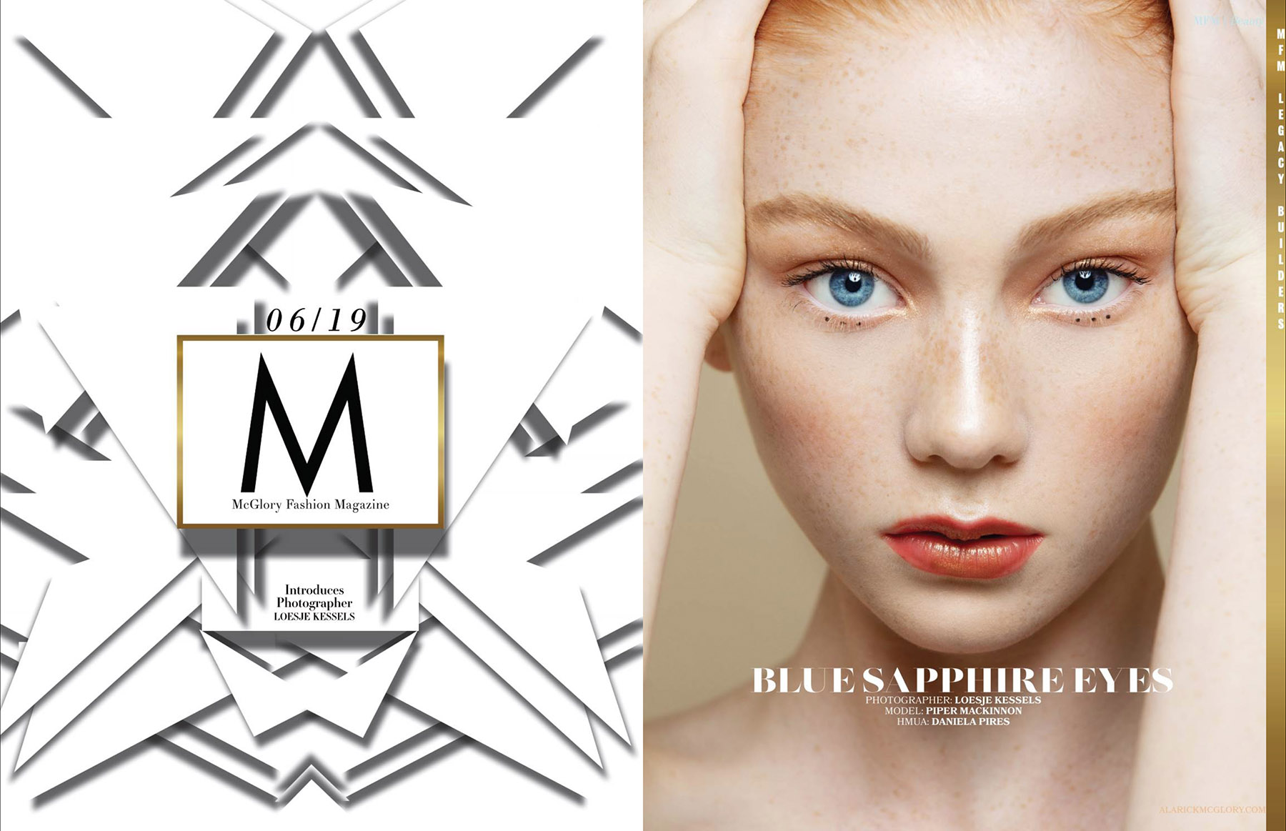 Beauty photoshoot with Piper MacKinnon published in MFM Magazine by Loesje Kessels Fashion Photographer Dubai