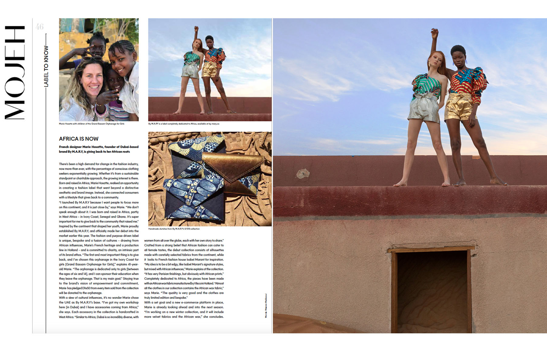 By Mary's new collection published in MOJEH magazine by Loesje Kessels Fashion Photographer Dubai
