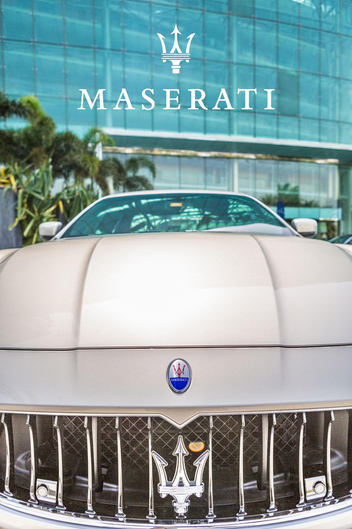 Commercial photography of Maserati Ghibli by Loesje Kessels Fashion Photographer Dubai