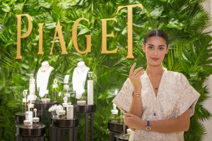 Model showcasing Piaget jewelry at their event in Abu Dhabi by Loesje Kessels Fashion Photographer Dubai