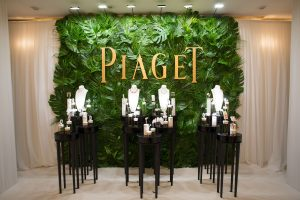 Jewelry set up at the Piaget event by Loesje Kessels Fashion Photographer Dubai