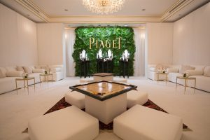 Beautiful set up of the Piaget event in Abu Dhabi by Loesje Kessels Fashion Photographer Dubai