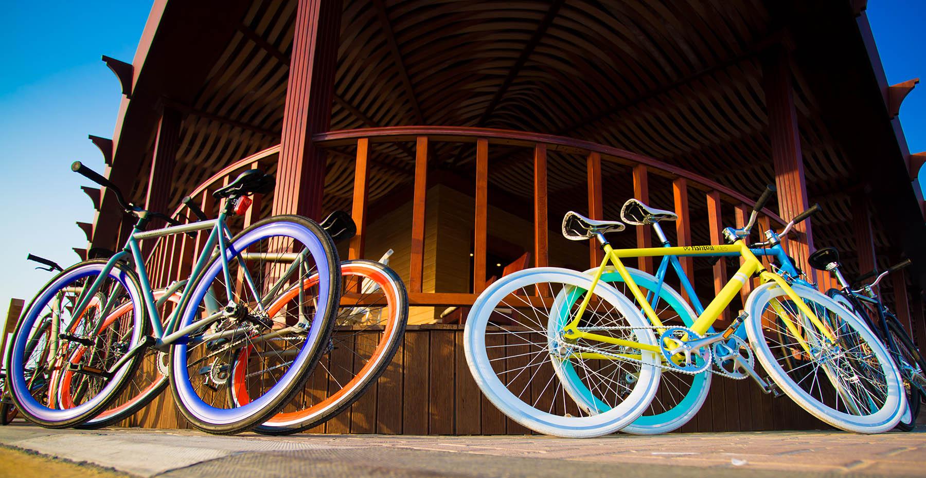 Fishtail ride bikes at the PUMA event by Loesje Kessels Fashion Photographer Dubai
