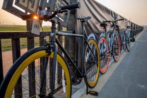 Fishtail ride bikes ready for the PUMA event by Loesje Kessels Fashion Photographer Dubai