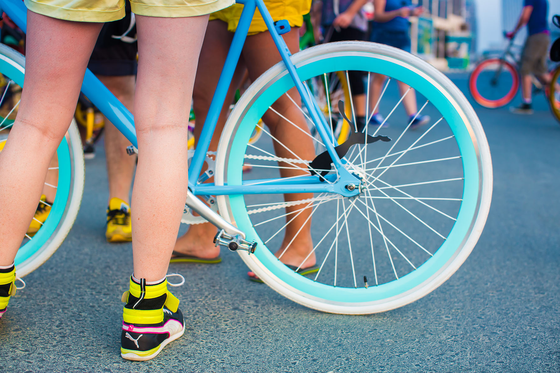 Fishtail ride bike at the PUMA event by Loesje Kessels Fashion Photographer Dubai
