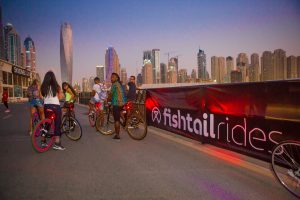 Influencers ready on their fishtail rides at the PUMA event by Loesje Kessels Fashion Photographer Dubai