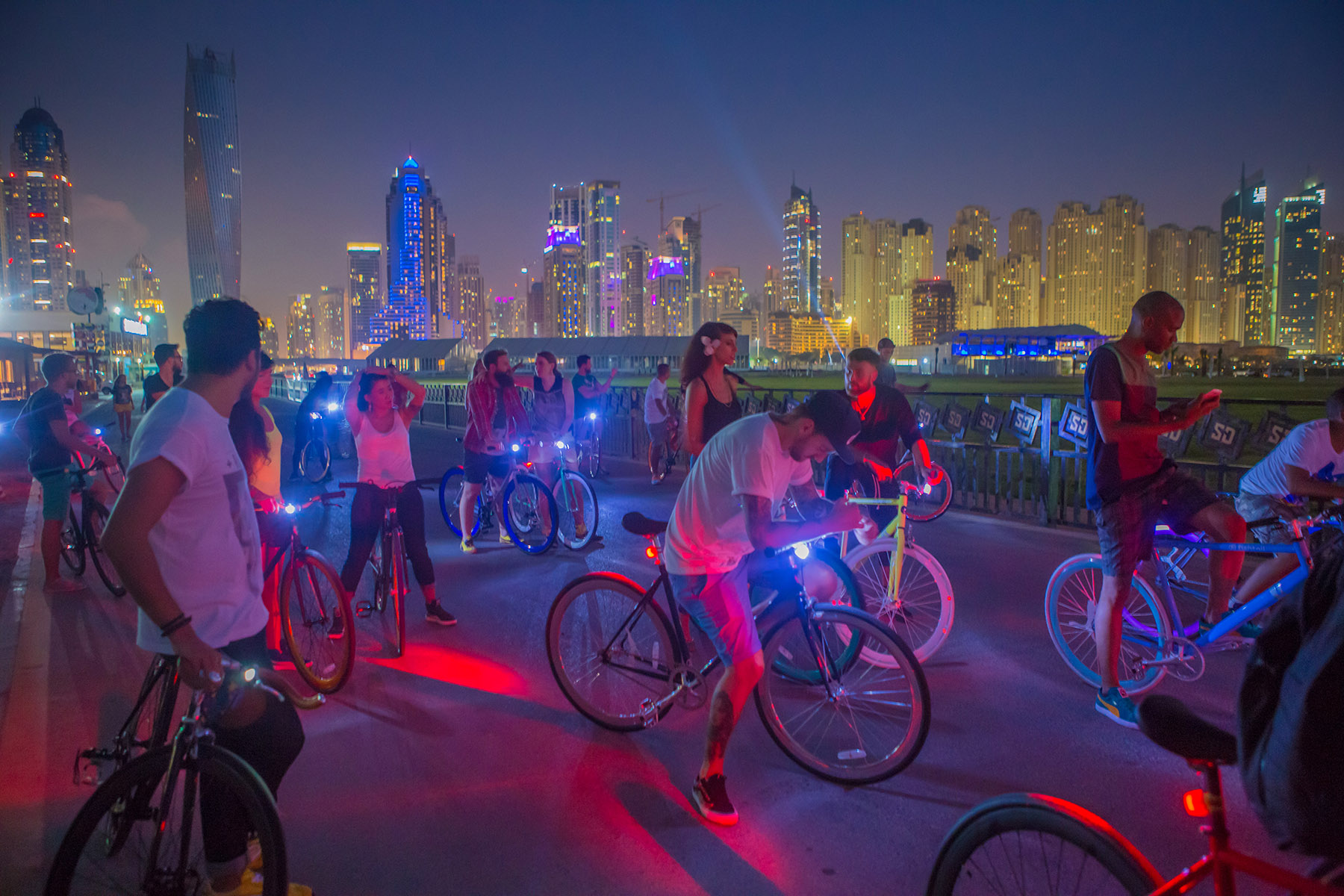 Influencers ready for the bike ride at the PUMA event by Loesje Kessels Fashion Photographer Dubai