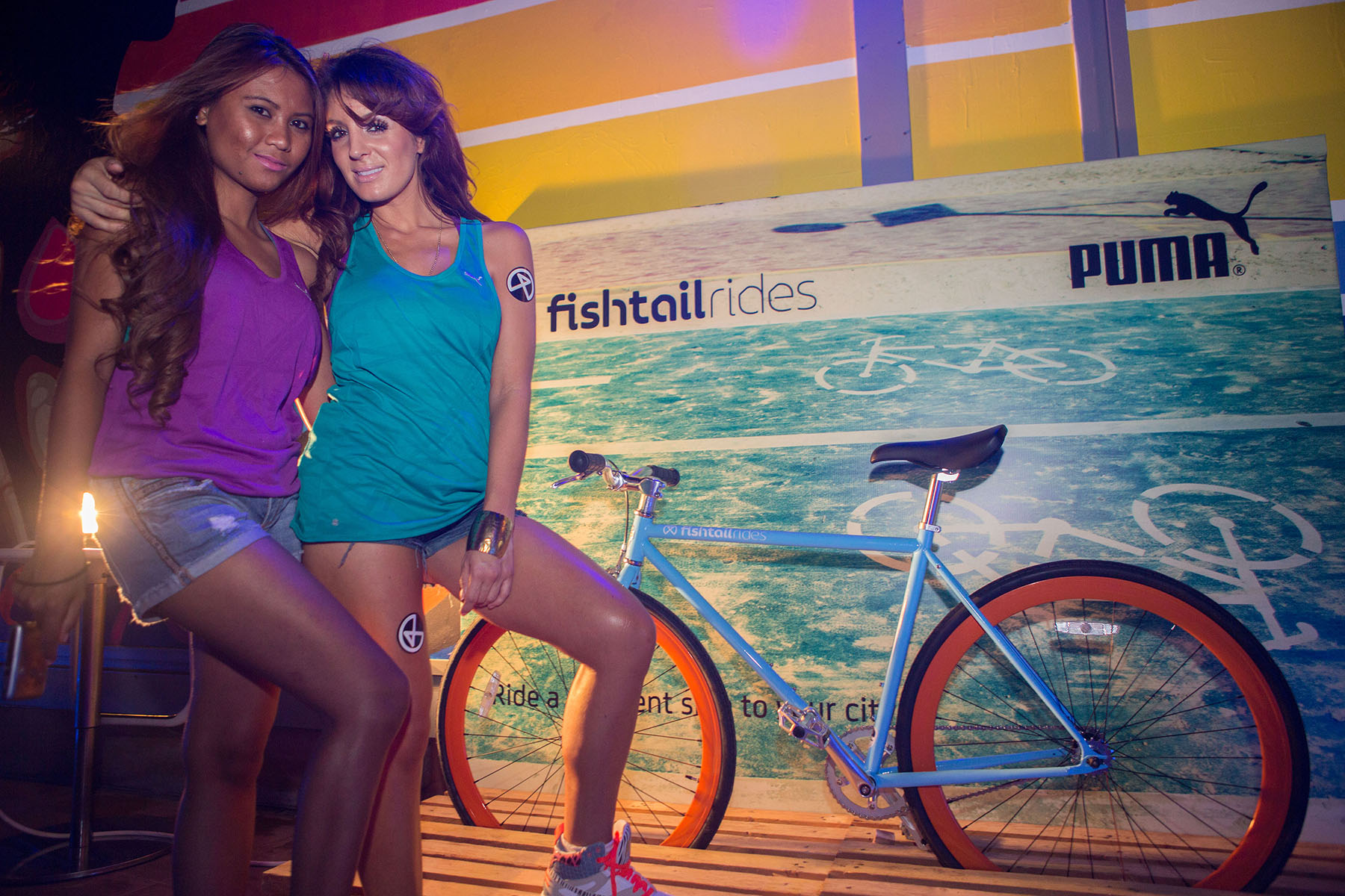 Fishtail ride PUMA event at the Media One Hotel by Loesje Kessels Fashion Photographer Dubai