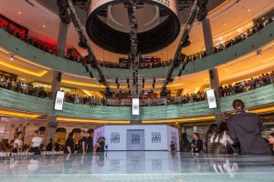 Set up of the Vogue Fashion Show event in Dubai Mall by Loesje Kessels Fashion Photographer Dubai