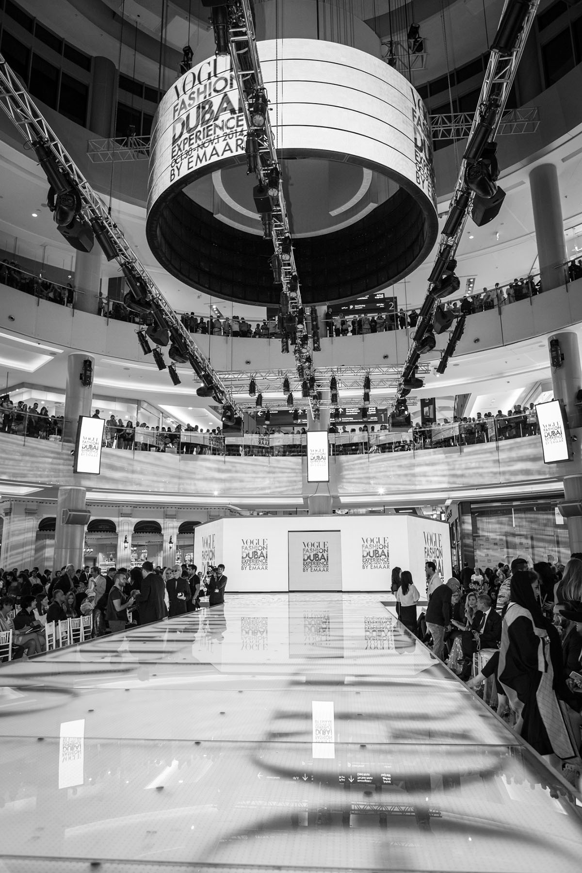 Catwalk set up at the Vogue Fashion Show event in Dubai Mall by Loesje Kessels Fashion Photographer Dubai