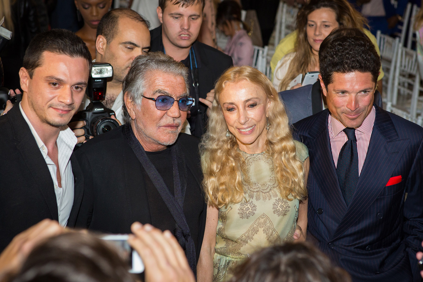 Vogue Italia's editor in chief Franca Sozzani at the Vogue Fashion Show by Loesje Kessels Fashion Photographer Dubai