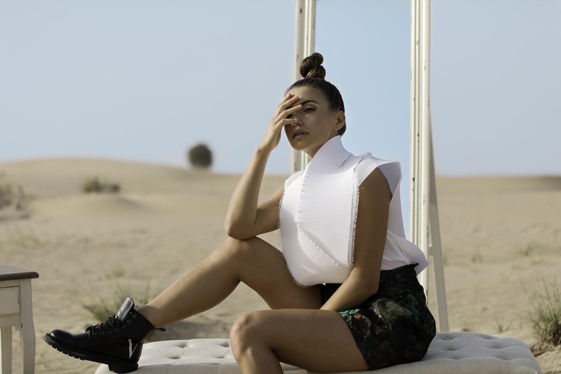 Fashion photoshoot Proshat Sarabloo by Loesje Kessels Fashion Photographer Dubai