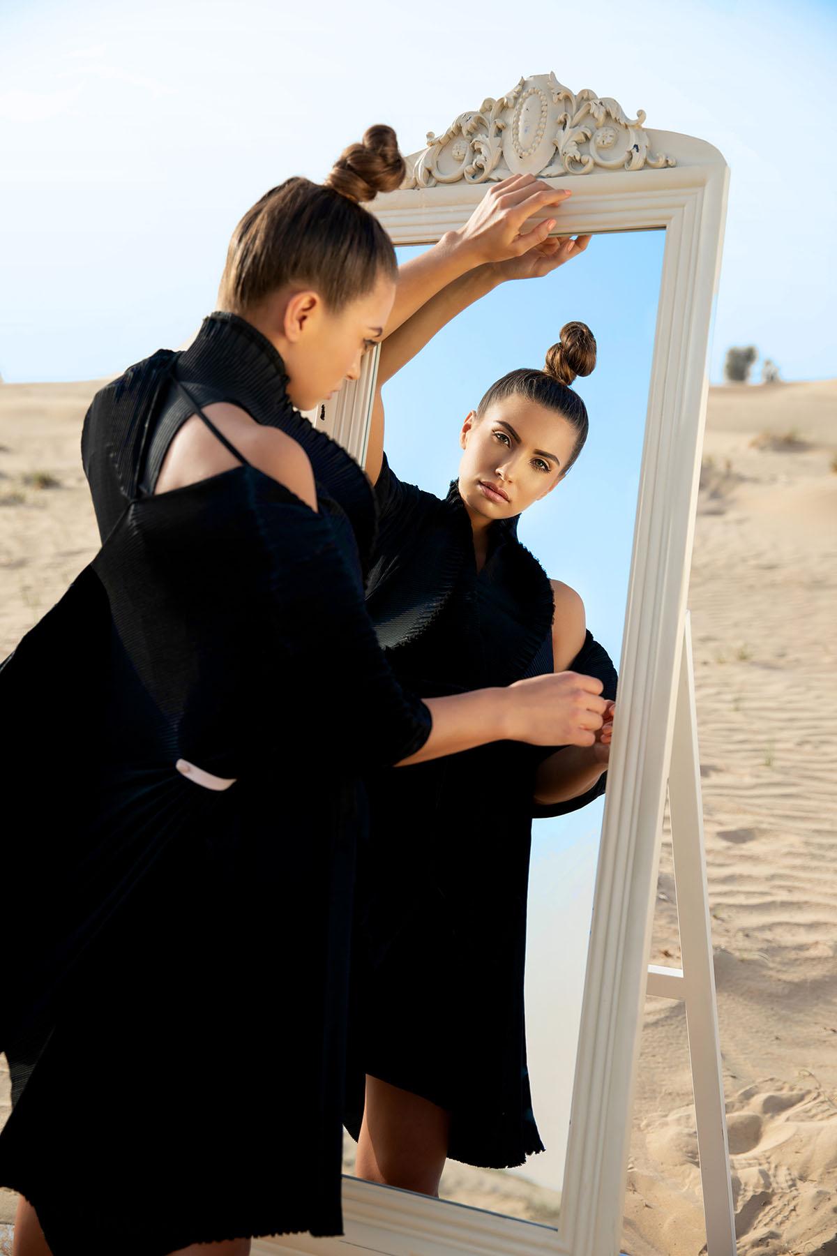 Editorial fashion photoshoot Proshat Sarabloo by Loesje Kessels Fashion Photographer Dubai